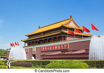 ville, place tiananmen, interdit, beijing