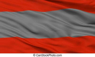 ville, poas, costa, drapeau, closeup, rica