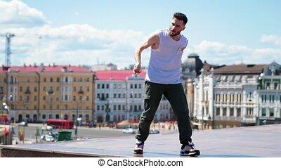 ville, point, freestyle, sommet, centre, jeune, danse,...