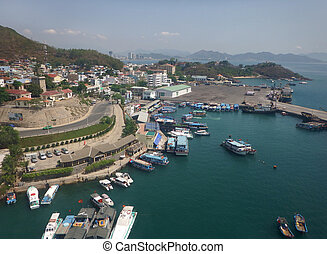 ville, port maritime, nha trang