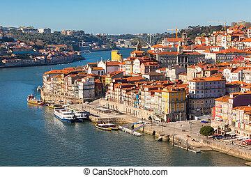 ville, présentation, vieux, portugal, porto