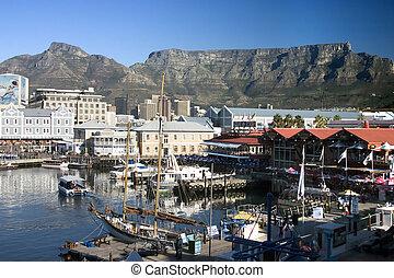 ville, quayside, afrique, sud, cap