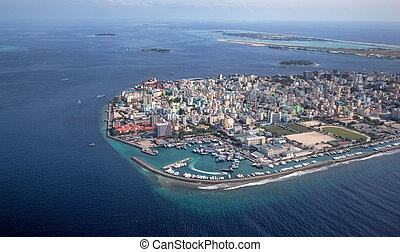 ville, région, maldives, mâle