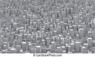 ville, résumé, blocs, blanc, formulaire