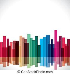 ville, résumé, coloré