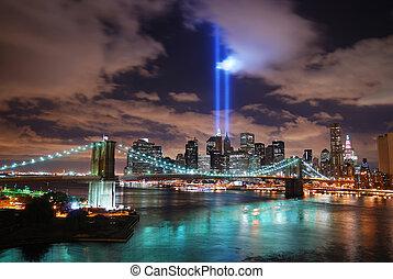 ville, rappeler, septembre, 11., york, nouveau