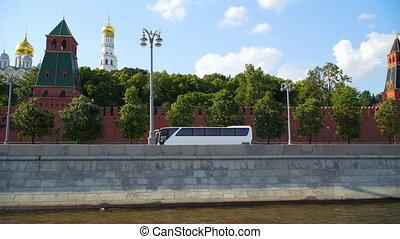 ville, rivière, vue, moscow: