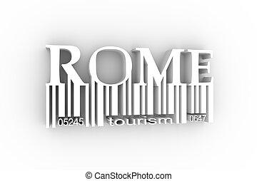 ville, rome, lettrage