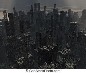 ville, ruiné