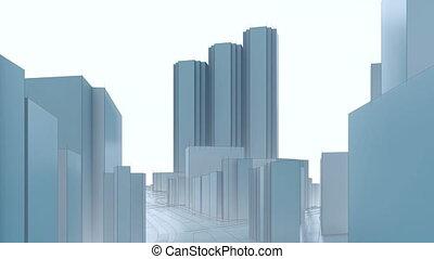 ville, shinjuku, gratte-ciel, tokyo, résumé, 4k, 3d