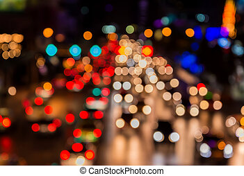 ville, soir, bokeh, confiture, trafic, barbouillage, route, abstact