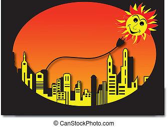 ville, solaire