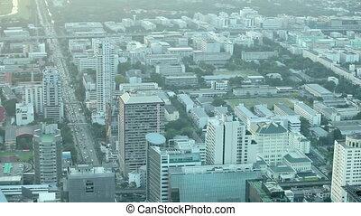 ville, sommet, moderne, vue
