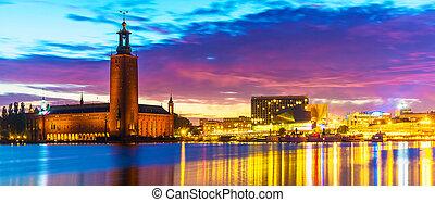 ville, suède, stockholm, salle