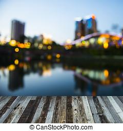 ville, taichung, -, nuit, taiwan, vue