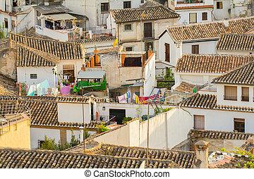 ville, toits, espagnol