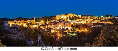 ville, toscane, grosseto, sorano, italie, province, méridional