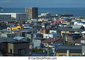 ville, township, hokkaido, sapporo, japon