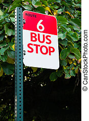 ville, transport, autobus, parcours, arrêt, public, en ville, 6, transit