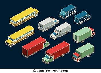 ville, transport, ensemble