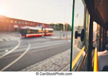 ville, transport, public