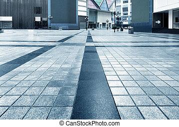 ville, tuiles, carrée, plancher