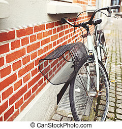 ville, vélo, rouges