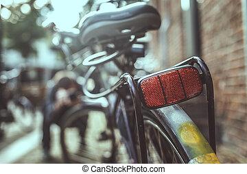 ville, vélo, sur, rue.
