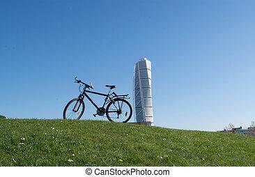 ville, vélo, tour