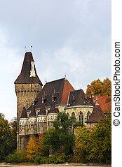ville, vajdahunyad, parc, hongrie, château, budapest, château