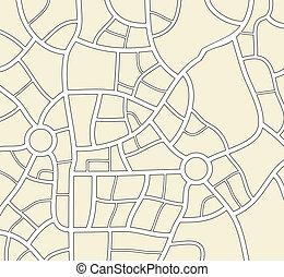 ville, vecteur, fond, carte