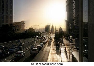 ville, vegas, trafic, las
