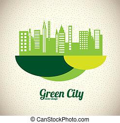 ville, vert