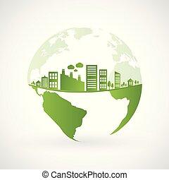 ville, vert, earth-2