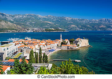 ville, vieux, budva, montenegro