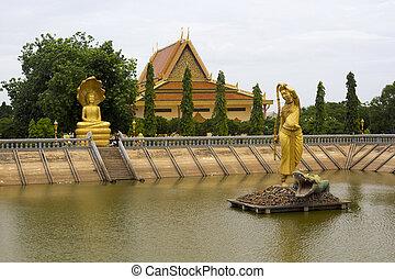 ville, vieux, oudong, cambodge, capital