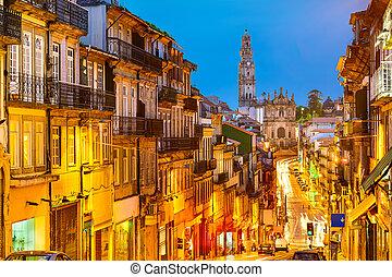 ville, vieux, porto, portugal, vue