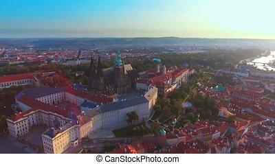 ville, vol, résidence, sur, au-dessus, président, château,...