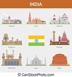 villes, de, inde