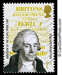 vilmos, postaköltség, britain, wilberforce, bélyeg