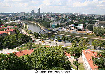 Vilnius - capital of Lithuania, view from the Gediminas ...