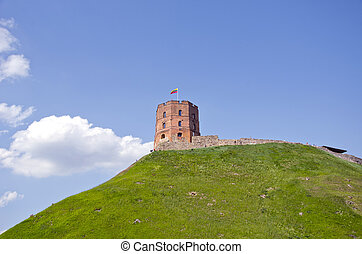 vilnius, castillo, lituania, gediminas, torre