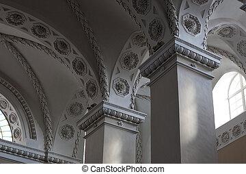 Vilnius Cathedral Interior - Interior details of the main ...