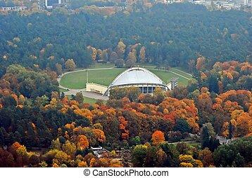 Vilnius city aerial view