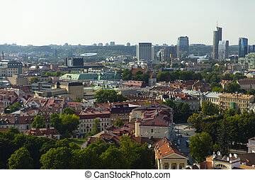 Vilnius cityscape in summer