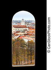 Vilnius from the window of the tower of Gediminas