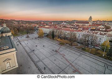 Vilnius, Lithuania:  Cathedral Square