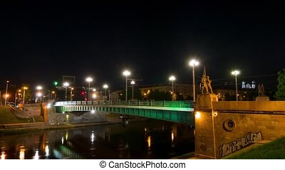 """Green Bridge"" with Soviet statues, - Vilnius, Lithuania -..."