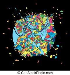 Vilnius, Lithuania, Colorful Artmap