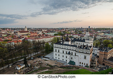 Vilnius, Lithuania in the evening
